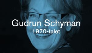 Gudrun Schyman – 1970-talet
