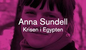 Anna Sundell – Krisen i Egypten