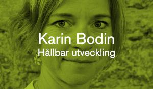 Karin Bodin – Hållbar utveckling